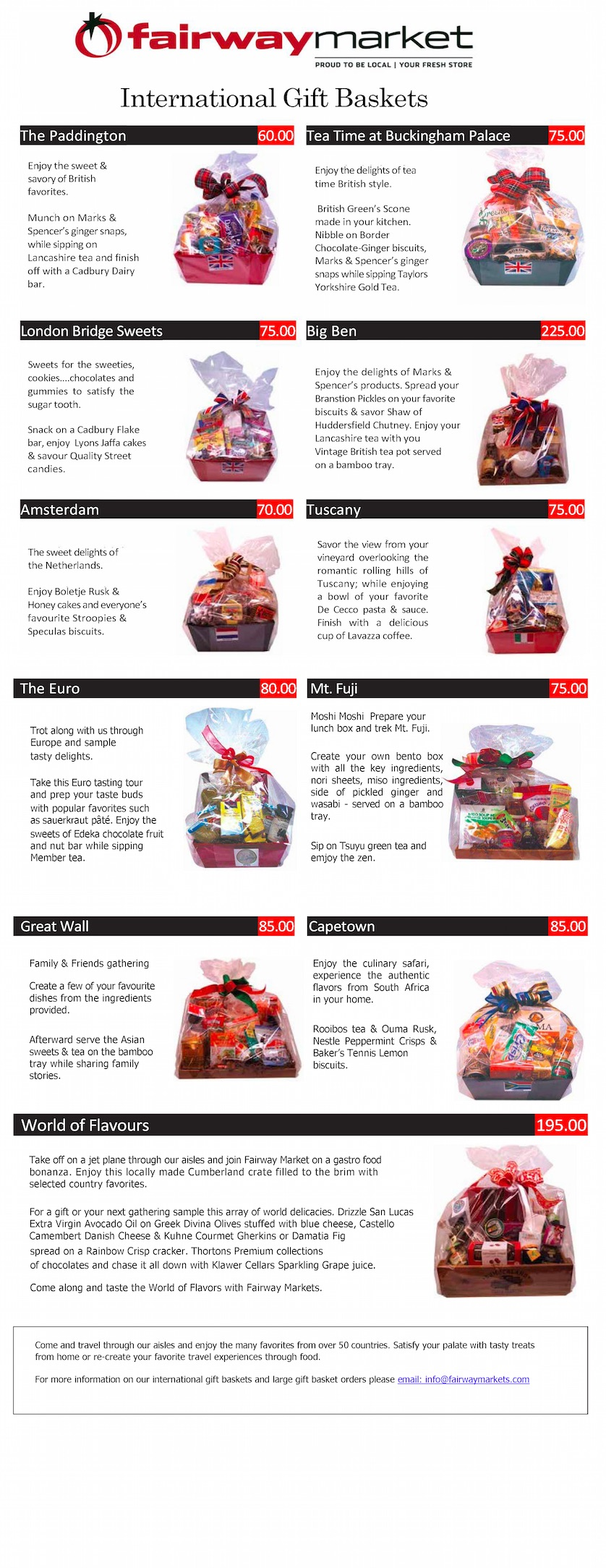 View Gift Basket Brochure